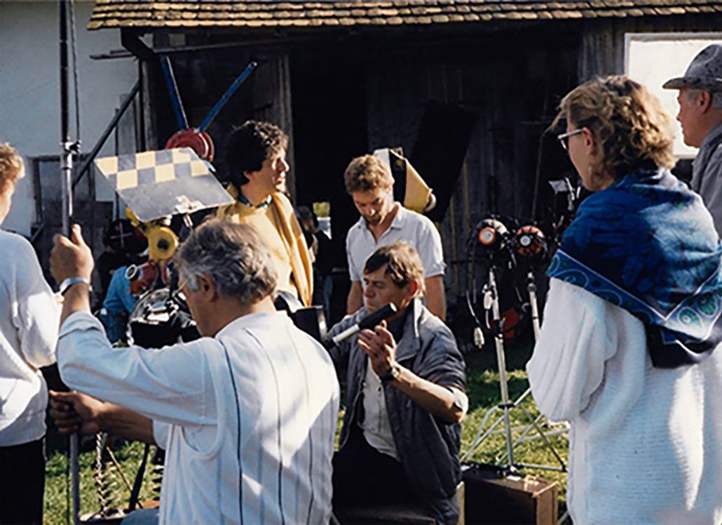 ZDF-Filmcrew auf dem Risthof