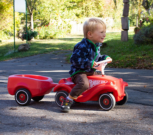 Bobby-Car fahren auf dem Risthof