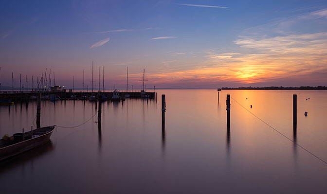Abendstimmung auf dem Bodensee