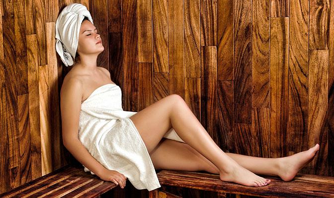 Sauna für Regentage