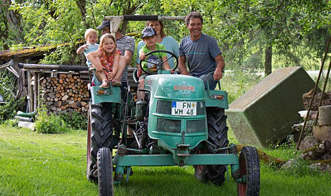 Traktorfahrten mit der ganzen Familie