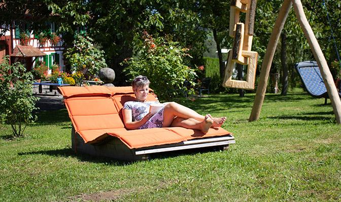 Entspannen in Relax-Liege