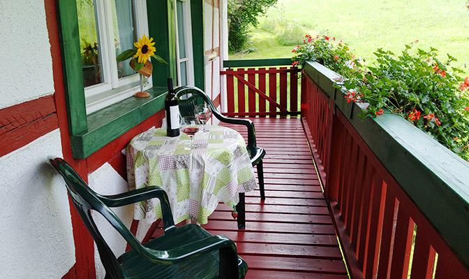 Sitzmöglichkeiten auf dem Balkon