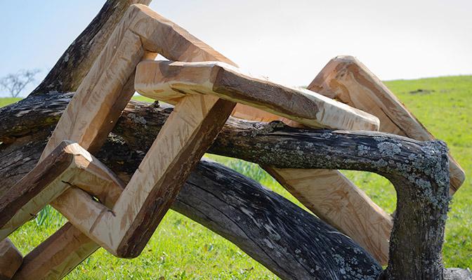 Kunstwerk Holzkette