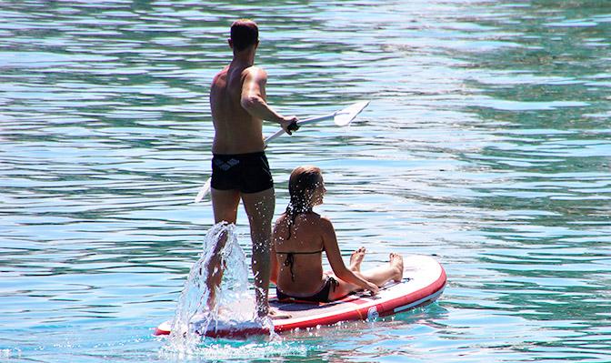 Stand-Up Paddlen auf dem Bodensee