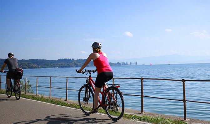Fahrradfahren rund um den Bodensee