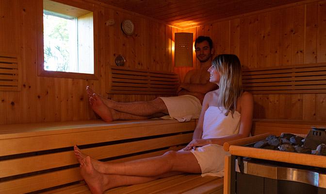 Unsere Sauna bietet sich an für regnerische Tage